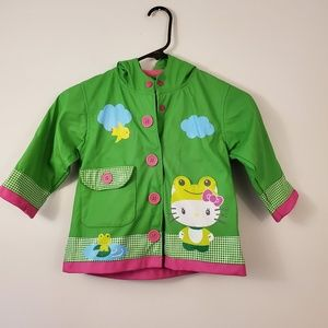 Western Chief Hello Kitty rain coat ruffles 3t
